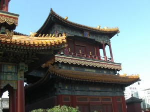 Gebäude auf dem Areal des Yonghegong 雍和宮, Beijing - Foto: Georg Lehner